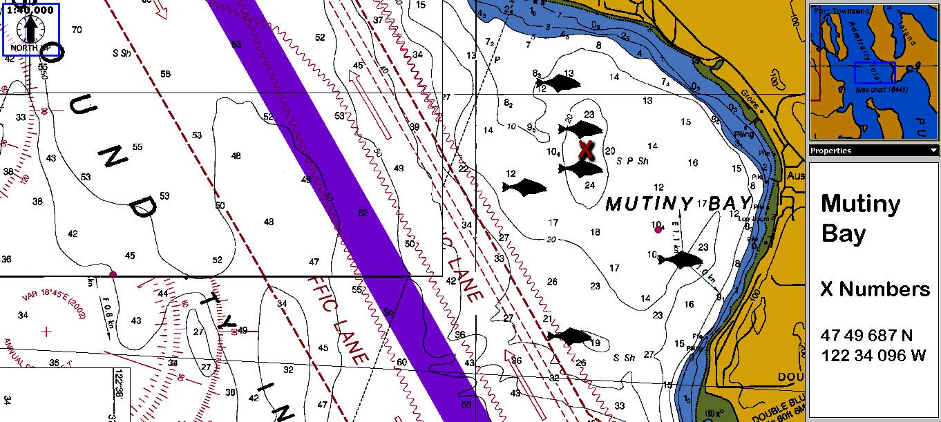 Mutiny Bay Halibut Fishing Map Go Fish Magazine 39 S